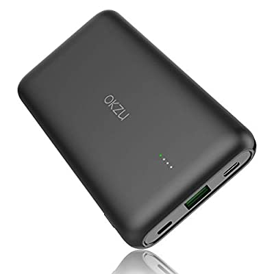 OKZU 10000mAh Fast Charging Power Bank, QC 4.0 & PD 3.0 USB C Portable Charger, 22.5W PD External Battery Pack Compatible with iPhone, Samsung, Huawei, iPad, and More.