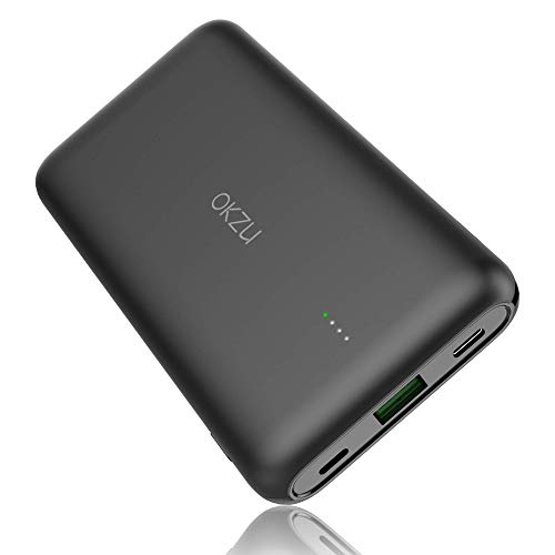 OKZU 10000mAh Power Bank, Caricatore Portatile Carica Rapida USB C 22.5W PD & USB C QC 3.0 Batteria Esterna Portatile per iPhone 12 11 X XS XR, Huawei, Xiaomi, Samsung
