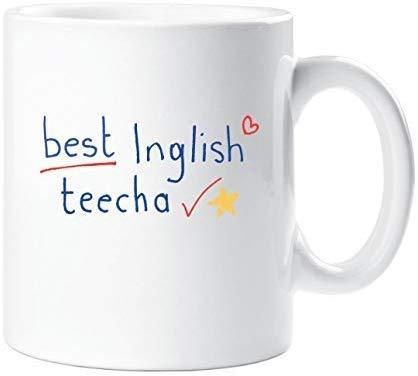 Kaffee Tasse Best Inglish Teecha Keramikbecher 12 Oz Beidseitig Bedruckt Coffee Cup für ihre Männer Frauen Büro Papa Mama Kids personalisierte Geburtstag