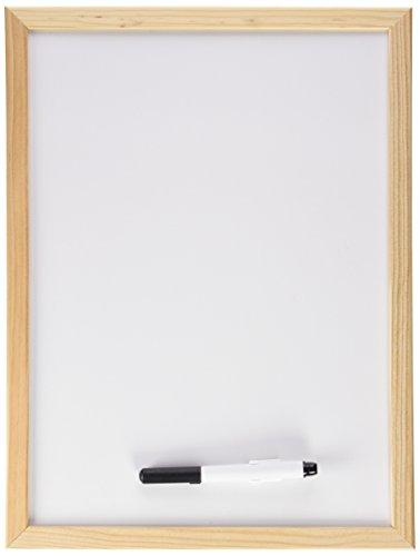 Makro Paper PM601 - Pizarra blanca con marco de madera, 30 x 40 cm