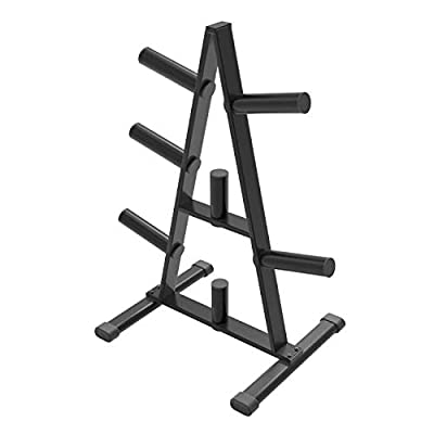 Cozy Castle Weight Plate Rack, A Frame Weight Plate Tree for 2 inch Plates for Home Gym, Olympic Weight Rack