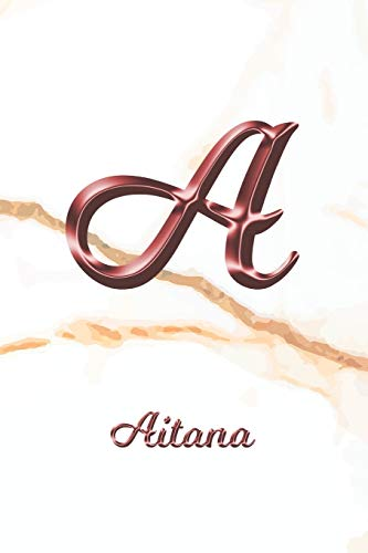 Aitana: Sketchbook | Blank Imaginative Sketch Book Paper | Letter A Rose Gold White Marble Pink Effect Cover | Teach & Practice Drawing for ... Doodle Pad | Create, Imagine & Learn to Draw
