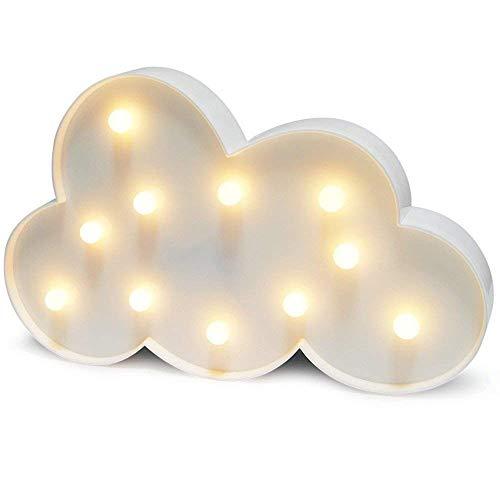 Favsonhome Wolkenlampe, Wolken-Dekoration, LED-Nachtlicht, batteriebetrieben, für Party-Zubehör, Wanddekoration für Kinderzimmer, Wohnzimmer, Schlafzimmer (weiße Wolke)
