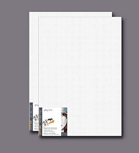 empireposter 2 Stück Spar-Set (2er Set) Künstlerbedarf - Leinwand - Keilrahmen - Grösse - 70x100 cm