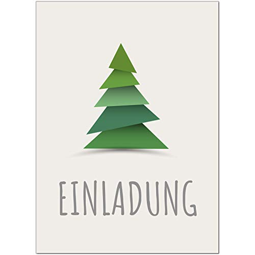 15 x Einladungskarten mit Umschlag zur Weihnachtsfeier/Motiv: Moderner Weihnachtsbaum/Weihnachten/Christmas Party/Einladung/für Firmen