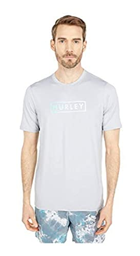 Hurley Boxed Gradient Short Sleeve Rashguard Wolf Grey XXL (5'11'-6'2', 210-230 lbs)