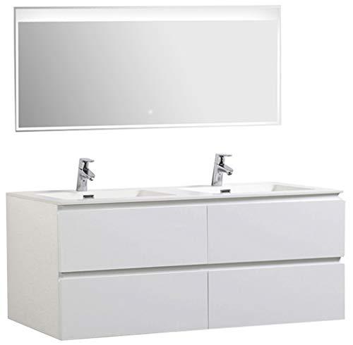 Bernstein Baño Shop–Set de Muebles de Baño Alice 1380Color Blanco Mate–Espejo Opcional, Mate, Mit LED-Spiegel 2073