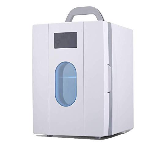 Enfriadores de Bolsos Frescos, Fresco eléctrico Box-refrigerador Aislado y Calentador, 10L Que acampa Mini refrigerador del Coche, 12V 210-240V-White kshu (Color : White)