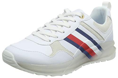 Tommy Hilfiger Damen Tommy Corporate Sporty Sneaker, Weiß (White 100), 36 EU