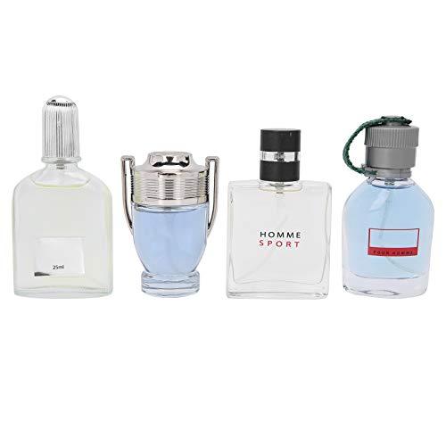 Perfume para hombre de 4 piezas de 25 ml, Eau de Toilette para hombre, Eau de Parfum absoluto de Homme, juego de perfume en spray masculino con fragancia natural de larga duración