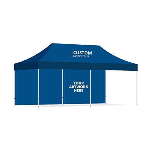 BANNER BUZZ maken het zichtbaar aangepaste Ez Pop Up luifel tent Instant Shelter draagbare tent met wielen draagtas & gratis ontwerp voor Trade Show conferentie evenementen 20' X 10'