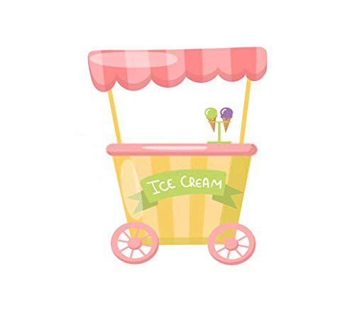 5D Diamond Painting Numbering Kit DIY Ice Cream Cart Wheels Food Kiosk Cartoon 16' X 20' Suitable for Children Adult Full Diamond Embroidery Cross Stitch Crafts