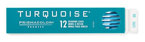 Prismacolor Premier Turquoise Graphite Drawing Leads, Non-Photo Blue, 2mm, 12-Count