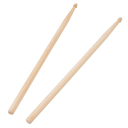 Drum Sticks, 16 inch, Made of Maple, Fit for All Drums, 5A Drum Sticks