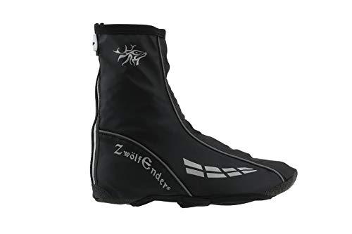 Zwölfender Pawnee Regen-Überschuhe schwarz Winddicht und wasserabweisend, Größe:XXL