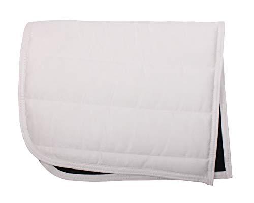 QHP Sattelpad Dressurpad Suedine absorbierende Unterseite viele Farben (Warmblut, weiß)