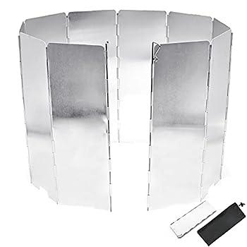 Pare-Vent Pliable, Portable Air Pare-Brise Pliable extérieur Cuisinière Poêle de Pique-Nique Pare-Brise, pour Rechaud de Camping, Pique-Nique Cuisinière à Gaz etc