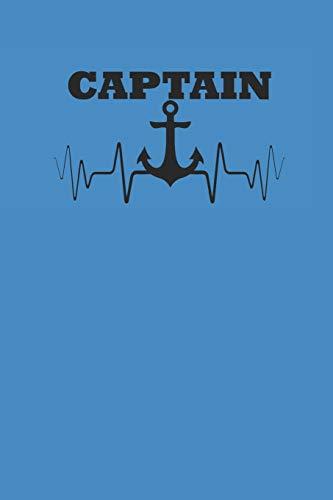 CAPTAIN: Notebook Segeln Notizbuch Sailing Journal Segel Planer 6x9 kariert squared karo