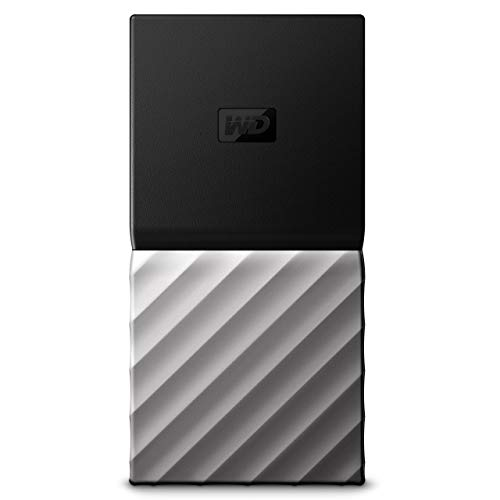 Western Digital WDBKVX2560PSL-WESN My Passport Portable SSD 256GB, Schwarz/Metallic