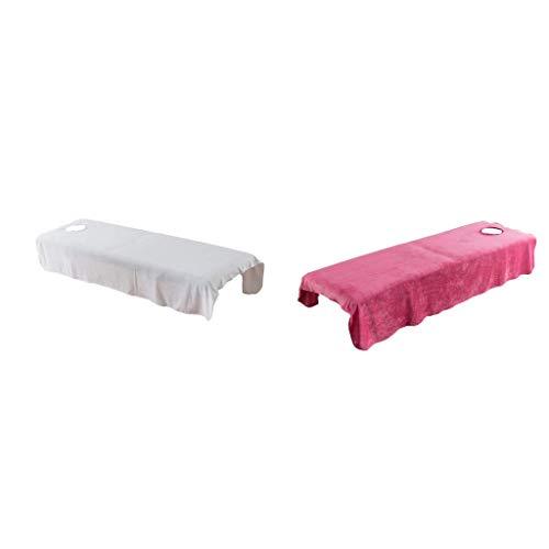 TANGIST 2 piezas de cristal terciopelo de belleza masaje trato de spa cubierta de mesa con agujero de aliento, 31x75 pulgadas