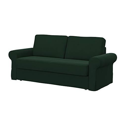 Soferia Funda de Repuesto para IKEA BACKABRO sofá Cama de 3 plazas, Tela Elegance Wakame Green, Verde