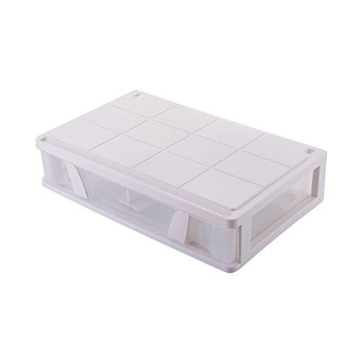 De plástico debajo de la cama de almacenamiento, almacenamiento en cajones de almacenamiento apilable Bins Organizador del estante de almacenamiento en rack caja para el dormitorio principal Oficina