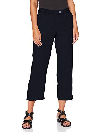 MAC Jeans Damen Nora Cropped Bootcut Jeans, Blau (Dark Blue 198), W36 (Herstellergröße: 36/Ol)