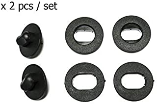 Carmats Fixation Clips 2 pcs Set Floor Mat Fasteners Holders Universal Unit for All car Makes and Model Fitting Clips Fasteners