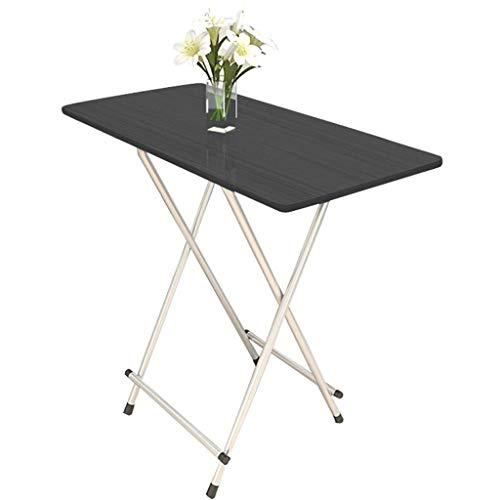 NJ Opvouwbare tafel- Klein formaat Eenvoudige Opvouwbare Eettafel, Thuis Eten Tafel Draagbare Rechthoekige Hoge Tafel Outdoor Stall Table