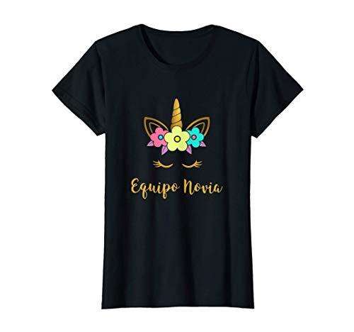 Mujer Unicornio Equipo Novia Camiseta