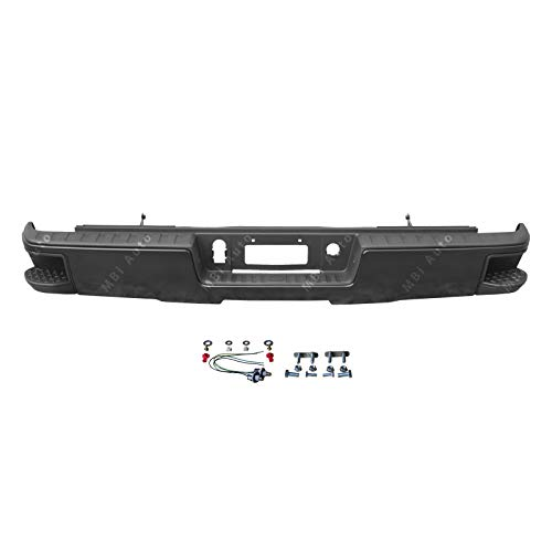 MBI AUTO - Replacement for Painted to Match Steel Rear Bumper W/Out Park 2014-2018 Chevrolet Silverado & GMC Sierra 1500, 14-18 GM1103177