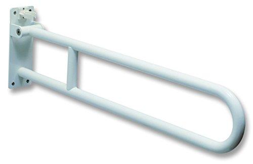 negrari BT0033 muurbeugel muur klikbevestiging geschikt voor invaliden, 85 cm, stalen nagellak, wit