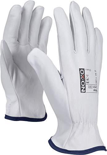 HandschuhMan. OX-ON Vollleder Arbeitshandschuhe, weiche Lederhandschuhe aus Ziegenleder Gr. 7 bis 11 (8/M)