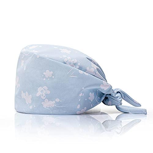 2pcs Sombrero de trabajo Estampado floral Cubierta para el cabello...