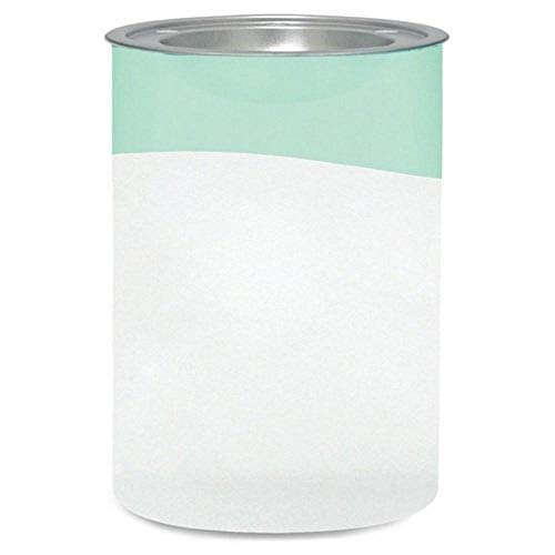 Yankee candle 1507856 Serene Sandblast Aqua Bruciatore per tart, Vetro, Bianco/Verde, 11.7x10.8x15.4 cm