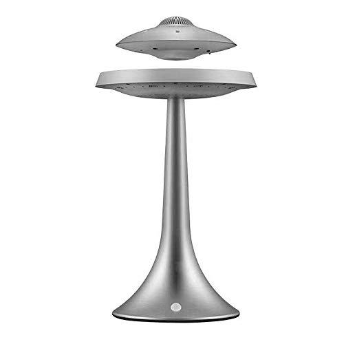 YSSWJ Ysswjzz Lampada a levitazione Magnetica, UFO Magnetico Sospensione Intelligente Bluetooth Speaker Lampada da Tavolo, Cambiamento di Colore di Ricarica Senza Fili sospeso Desktop Luce Bluetooth