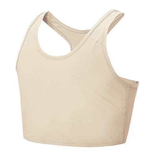 Idtswch Chest Binder for Transgender Breast Binder FTM Binder Chest Compression Bra (Nude 167, S)