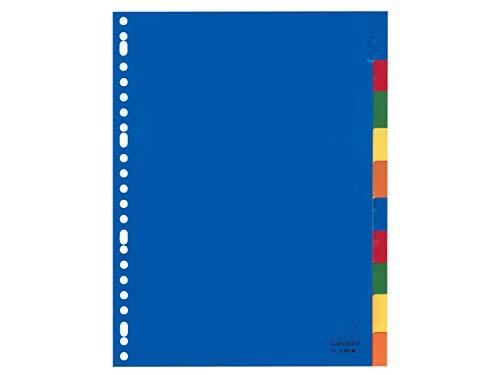 Register Kangaro DIN A4 Fenster PP 120 micron 23r. 10tlg sortiert Tabs