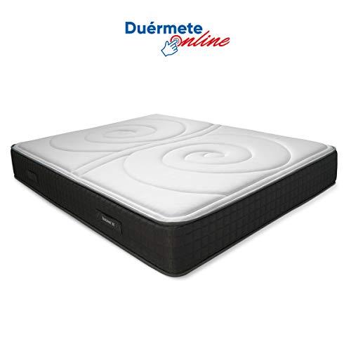 Duérmete Online Colchón Viscoelástico Duo Reversible | Altura 25cm | Confort Máximo | Acolchado Exclusivo, Biogel, 90x180