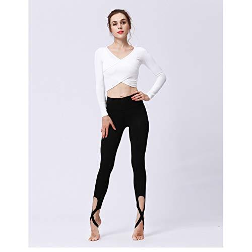 YOGOAOO Frauen Ballerina Yoga Hosen Verband Cropped Leggings Sport Dance Engen Leggings Fitness Kreuz Hosen Laufen Yoga Hosen