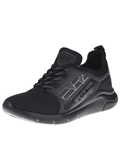 Emporio Armani Ea7 Racer Reflex Cc Zapatillas Moda Hommes Negro - 43 1/3 - Zapatillas Bajas