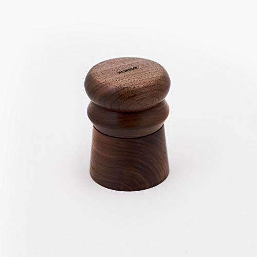 Hemson Goods Totem 3 Piece Herb and Spice Grinder, Solid Walnut and Anodized Aluminum Core, Magnetic Closure and Storage…