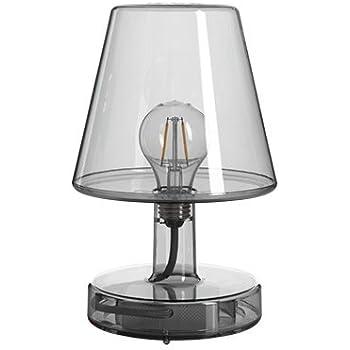Fatboy Lampe Transloetje Grey Tischlampe Leselampe Nachttischlampe Ohne Kabel Aufladbar Mit Mini Usb Amazon De Beleuchtung