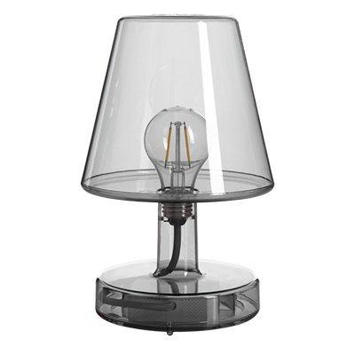 Fatboy® Transloetje grau Lampe | Tischlampe, Leselampe, Nachttischlampe | ohne Kabel | aufladbar mit USB | 25 x Ø 16,5 cm