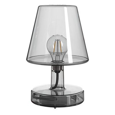 Lmpara Fatboy Transloetje | Gris | Lmpara de escritorio, luz de lectura, lmpara de mesita de luz | sin cable | recargable con Mini USB