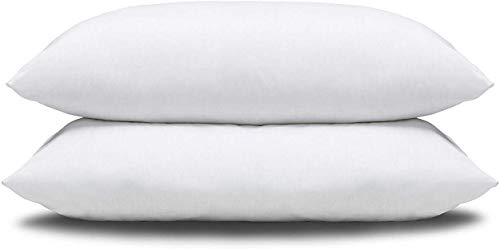 Slumberdown Super Support White Pillows 2 Pack Firm Support Bed Pillows Designed for Back and Side Sleepers