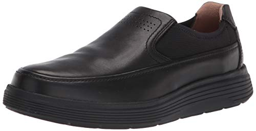 Clarks Men's Slip-on Loafer, Black Leather,9.5 W US