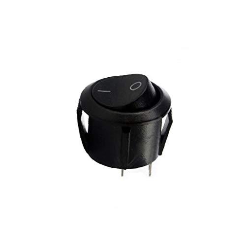 OMMO LEBEINDR Kleine Schwarze runde Rocker-Aus-Schalter I/O Tiny Mini DC SPST Circularfor Convenience