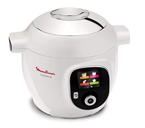 Moulinex Cookeo + CE8511, Multicooker, 150 Ricette Pre-Programmate, 6 Modalità di Cottura, Capacità 6 Litri, Bianco