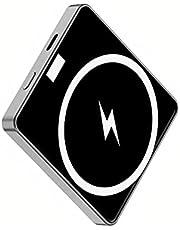 BFuller Mini externe batterij 10000 mAh draadloos magnetisch draagbare oplader Power Bank voor MagSafe iPhone 12 Samsung Huawei grote capaciteit, grijs